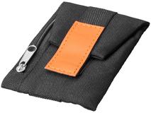 Бумажник Keeper для ношения на обуви, чёрно-оранжевый фото