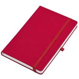 Бизнес-блокнот в клетку на резинке thINKme Silky А5, 256 стр., красный фото