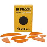 Головоломка IQ Puzzle Figures в виде круга, стекло, оранжевая фото