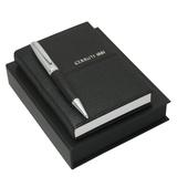 CERRUTI 1881 Набор: записная книжка, ручка шариковая, черный фото