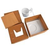 Чайная пара Гармония с ложечкой в подарочной упаковке, белый фото