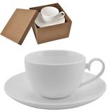 Чайная пара Классика в подарочной упаковке, 190мл, фарфор, деколь, белый фото