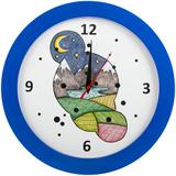Часы настенные «Горы», синие фото