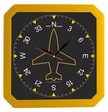 Часы настенные, Квадро, желтые фото