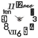 Часы настенные numbra черные, черный фото