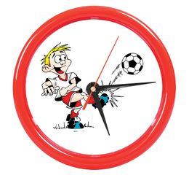 Часы настенные PRINT для рекламной вставки, красный фото