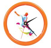 Часы настенные PRINT разборные , оранжевый, D24,5 см, пластик/стекло фото