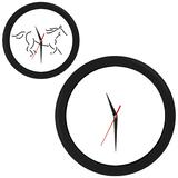 Часы настенные ПРОМО разборные, черный, черный фото