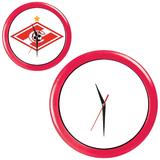 Часы настенные ПРОМО разборные, красный, красный фото