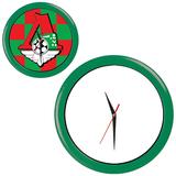 Часы настенные ПРОМО разборные, зеленый, зеленый фото