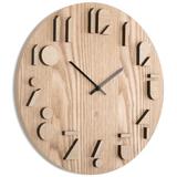 Часы настенные shadow натуральное дерево, коричневый фото