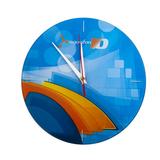 Часы настенные, стеклянные, с полноцветной печатью под заказ фото