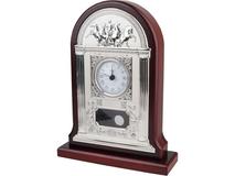 Часы настольные Александр Македонский, серебряный/серый, красный фото
