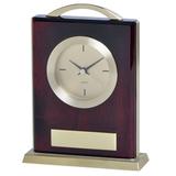 Часы настольные Министр  с шильдом, золотой, коричневый фото