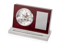 Часы настольные Webster, серый, коричневый фото