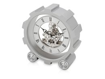 Часы настольные Шестеренки, серый фото