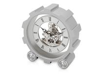 Часы настольные Шестеренки, серебряный/серый фото