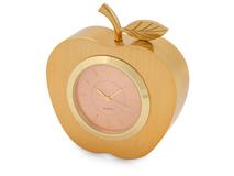 Часы настольные Золотое яблоко, розовый, золотой фото