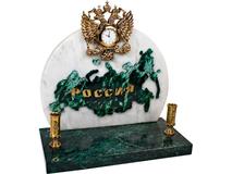 Часы Россия, белый, золотой, зеленый фото