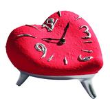 Часы Сердце, красно-серебристые фото