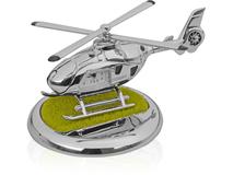 Часы Вертолет с посадочной площадкой. Вертолет может взлетать и садиться на площадку, серебряный/серый фото