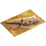 Чехол для пропуска «Хозяйка огня», бежевый с рисунком фото
