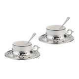 Набор для чая CHINELLI на 2 персоны, серебрение фото