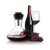 Декантер для красного вина Aerato с аэратором, черный, прозрачный фото