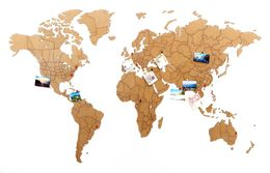 Деревянная карта мира World Map True Puzzle Large, коричневая фото