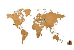 Деревянная карта мира World Map Wall Decoration Large, коричневая фото