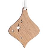 Деревянная подвеска Carving Oak, в форме елочной игрушки фото
