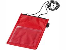 Чехол для бейджа с карманом, красный фото