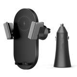 Держатель с функцией зарядки Xiaomi ZMI Wireless Charging Car Holder, чёрный фото