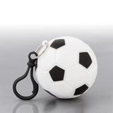 Дождевик Футбол в футляре с карабином, черный/ белый фото