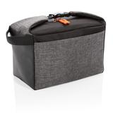 Двухцветная сумка-холодильник, чёрно-серая фото