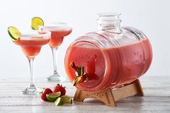 Диспенсер для напитков barrel на подставке 3 л в подарочной упаковке, прозрачный фото