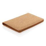 Эко-обложка для паспорта Cork  с RFID защитой, пробковая, коричневая фото