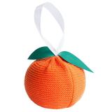 Елочное украшение Мандарин, оранжевое фото