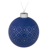 Елочный шар Chain, 10 см, синий фото