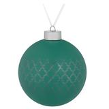 Елочный шар King, 10 см, зеленый фото