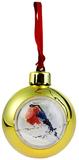 Елочный шар-шкатулка, блестящий металлик, золотой фото