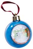 Елочный шар-шкатулка, синий фото