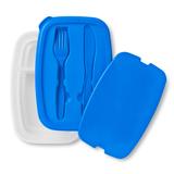 Емкость для для хранения обеда с набором столовых приборов, синий фото