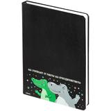 Ежедневник Крокодилобегемоты, недатированный, черный фото
