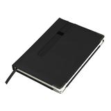 Ежедневник недатированный ASTON, А5,  черный, белый блок, без обреза фото