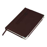 Ежедневник недатированный ASTON, А5,  темно-бордовый, белый блок, без обреза фото