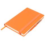 Ежедневник недатированный Barry, оранжевый металлик фото
