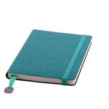 Ежедневник недатированный Boomer А5, 272 стр., кремовый блок, без обреза, бирюзовый фото