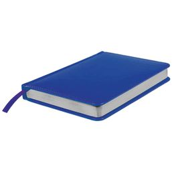 Ежедневник недатированный Joy А6+, синий, белый блок, серебряный обрез фото