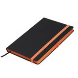 Ежедневник недатированный Portobello Trend, Aurora, черный/оранжевый  фото